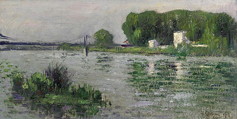 Gustave Loiseau - The Banks of the Seine, Triel, 1913. Sotheby's