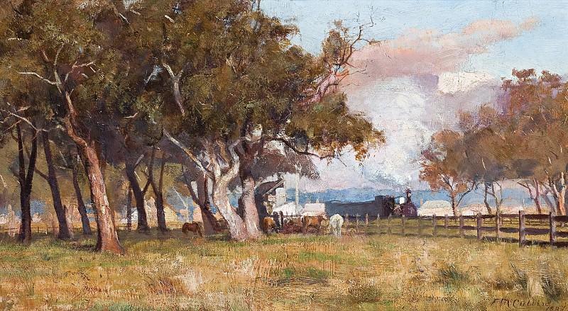 Frederick McCubin - The Morning Train, 1887. Sotheby's