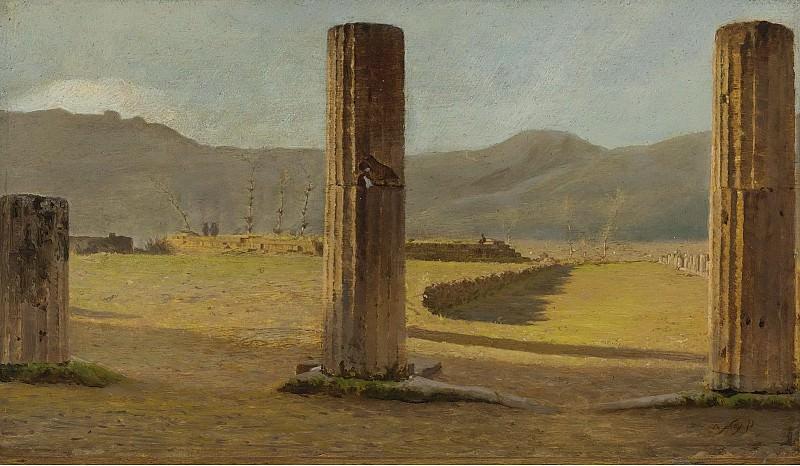 Giuseppe De Nittis - A View from Pompeii, 1873. Sotheby's