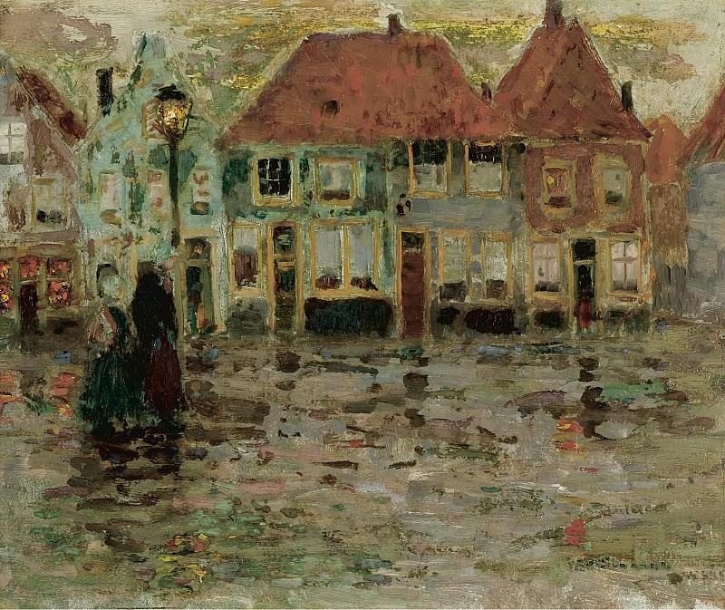 Henri Le Sidaner - The Square of Ecluse, Sluis, 1899. Sotheby's
