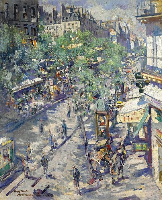 Constantin Corovin - The Boulevard of Sevastopol, 1923. Sotheby's