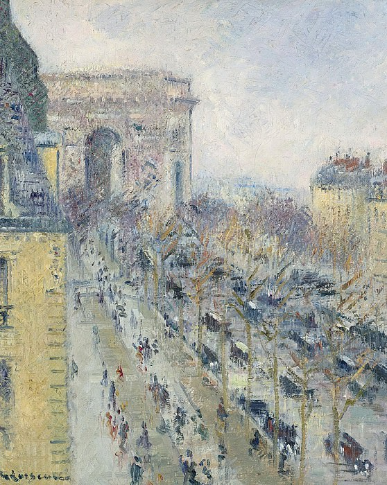 Gustave Loiseau - The Triumph Arch and Friedland Avenue, 1930-31. Sotheby's