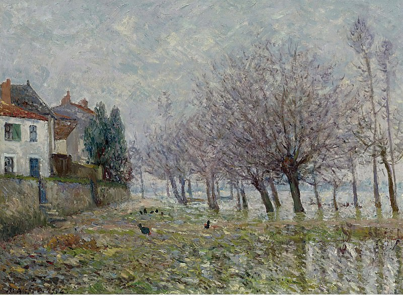 Maxime Maufra - After the Flood, Haute-Indre, the Lower Loire, 1904. Sotheby's