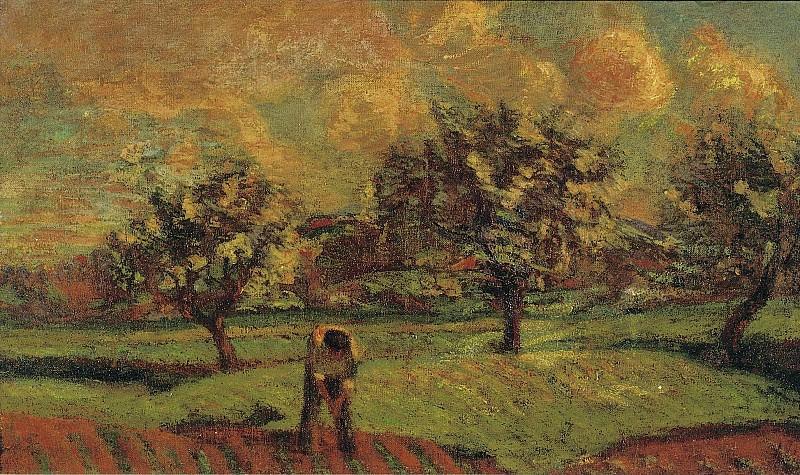 Armand Guillaumin - Landscape at Ile-de-France, 1885. Sotheby's