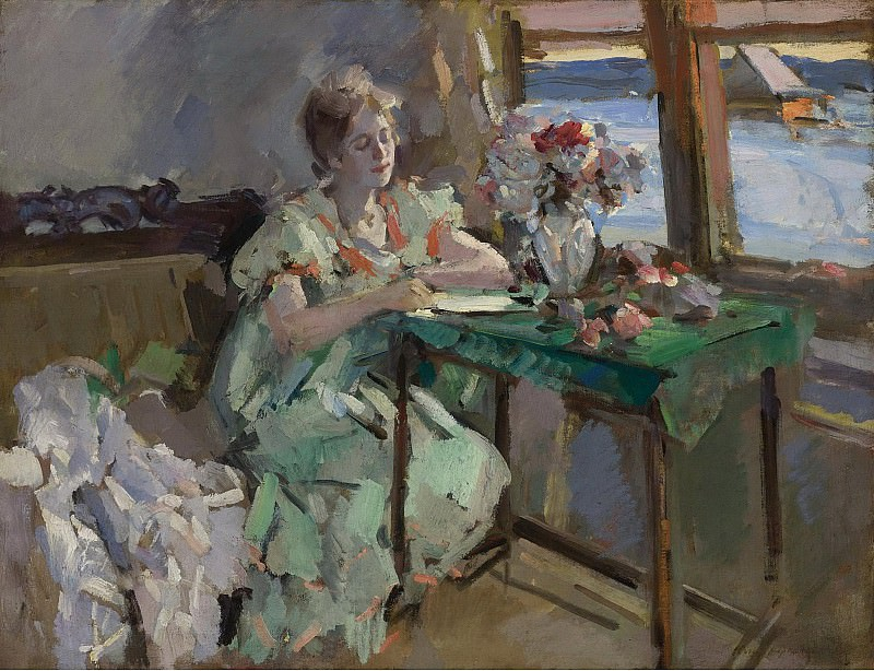 Constantin Korovin - By the Window. Sotheby's