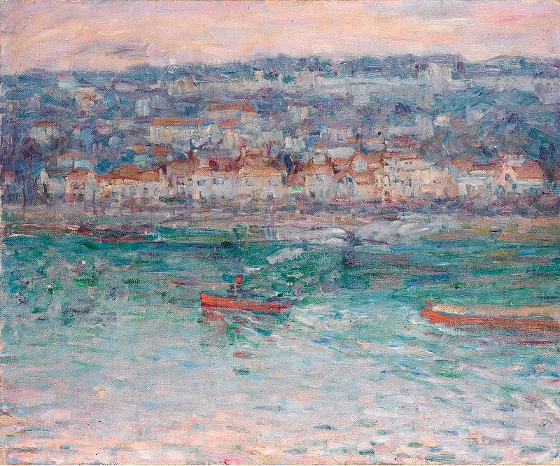 John Peter Russell - Tugboat on the Seine. Sotheby's