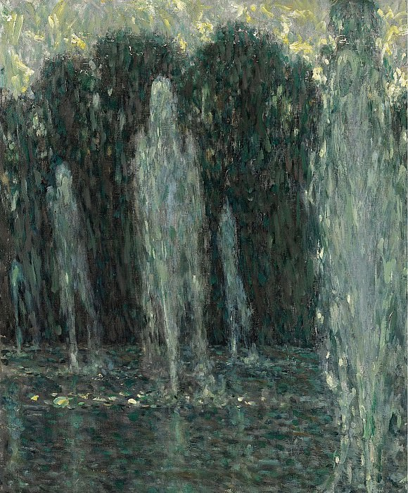 Henri le Sidaner - The Jets of Water, Versailles, 1938. Sotheby's