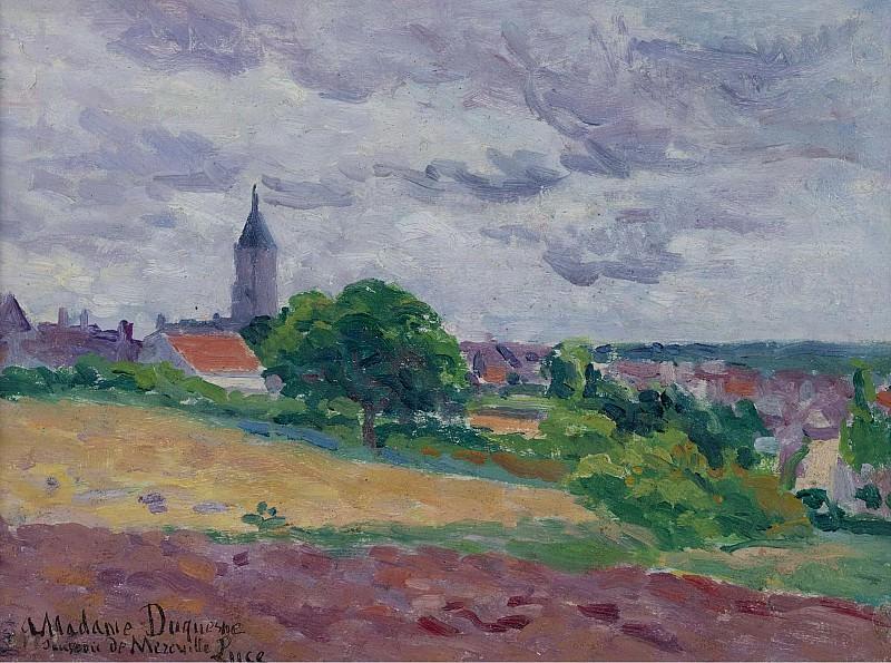 Maximilien Luce - Memories about Mereville, 1903. Sotheby's