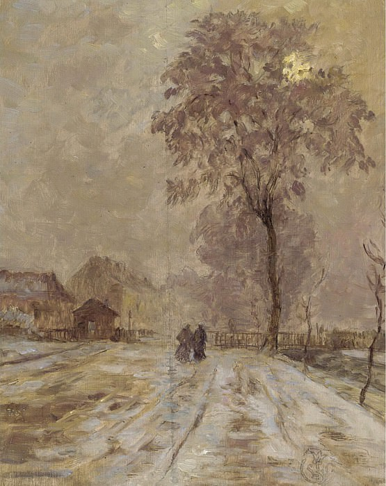 Claude-Emile Schuffenecker - Winter Scene. Sotheby's