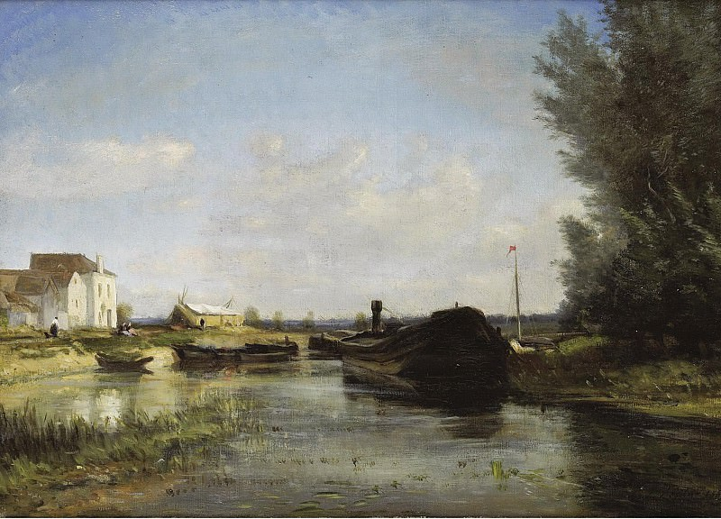 Stanislas Lepine - The Boats, 1869. Sotheby's