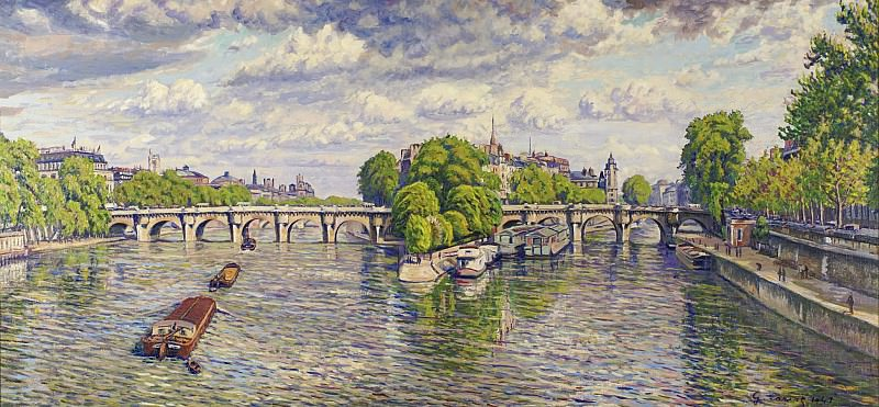 Gustave Cariot - Pont Neuf at Paris, 1941. Sotheby's