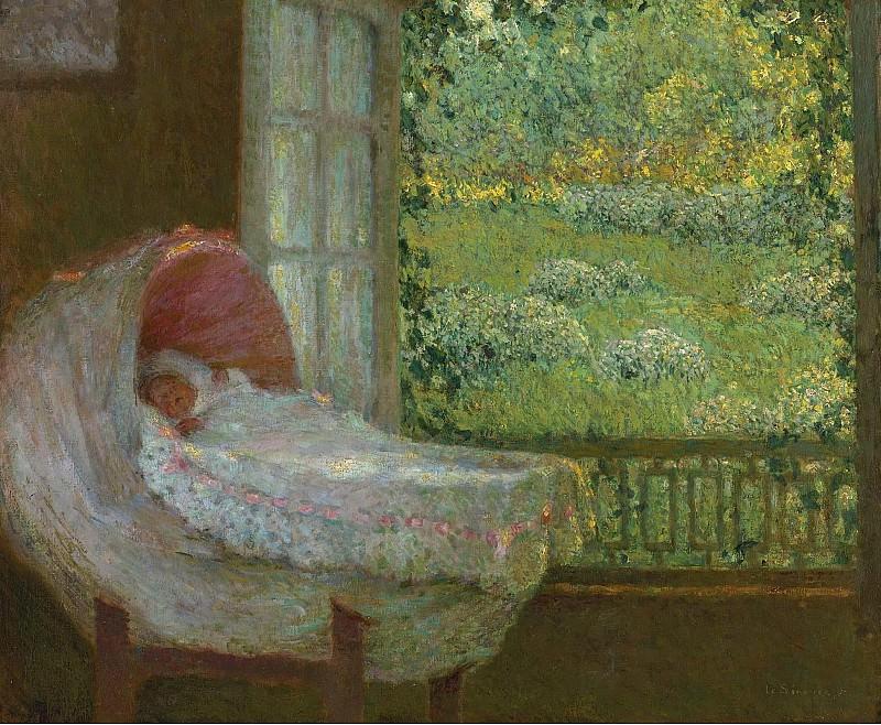 Henri Le Sidaner - The Cradle, 1905. Картины с аукционов Sotheby's