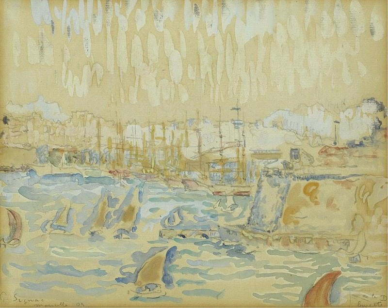 Paul Signac - The Port of Marseille, 1904. Sotheby's