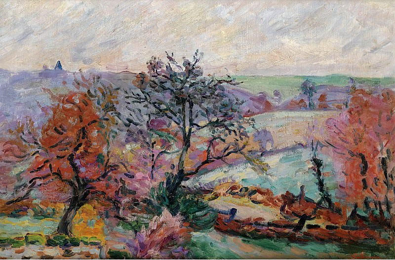 Armand Guillaumin - View of Crozant, 1900. Sotheby's