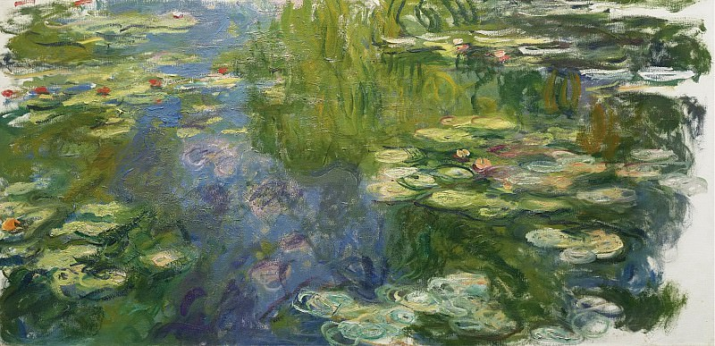 Claude Monet - The Pool with Waterlilies, 1917-19. Sotheby's