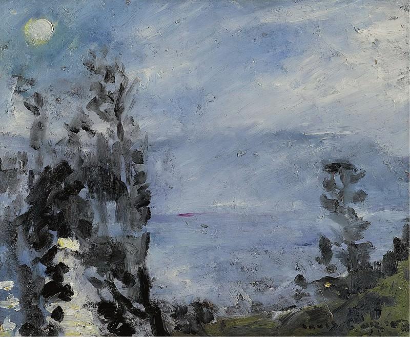 Lovis Corinth - Walchensee, Moon in June, 1920. Sotheby's