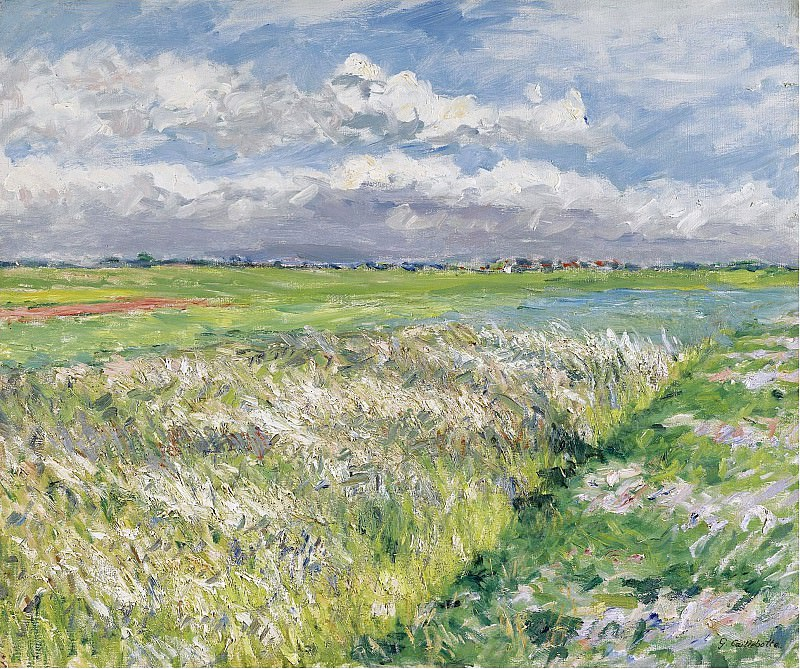 Gustave Caillebotte - The Plain of Gennevilliers, Etude in Yellow and Green, 1884. Sotheby's