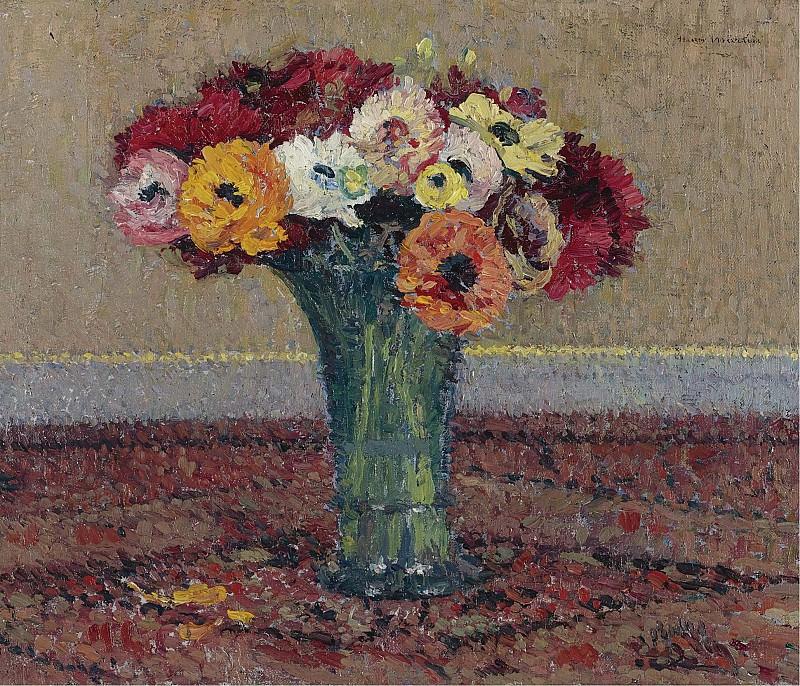 Henri Martin - Anemones, 1920. Sotheby's