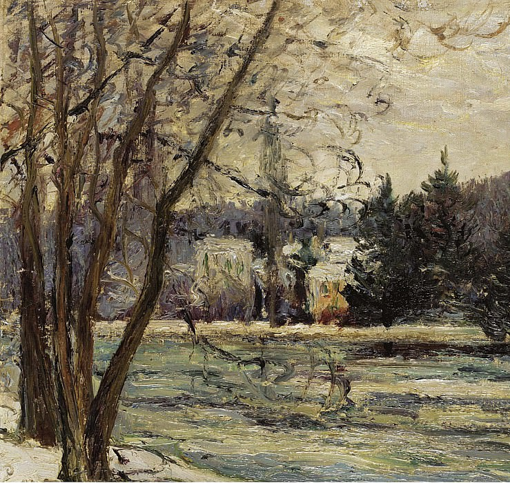 Maxime Maufra - The Ice on Pond of Avray, 1897. Sotheby's