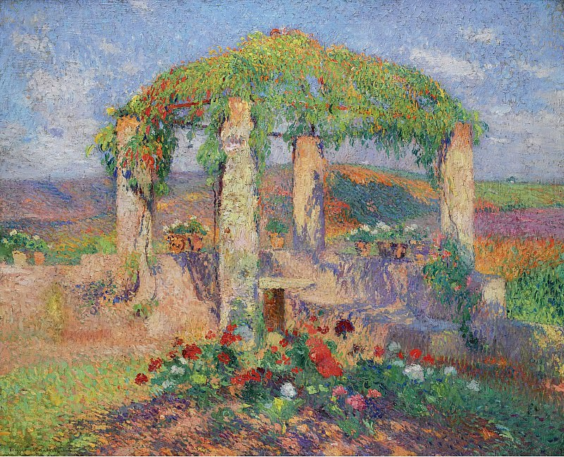 Henri Martin - The Arbour in the West from Marquayrol, Autumns Beginning. Sotheby's