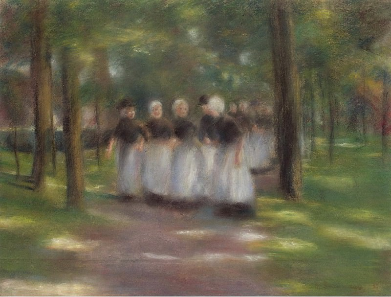 Max Liebermann - Sunday Afternoon in Laren-Alley with Girls, 1897. Sotheby's