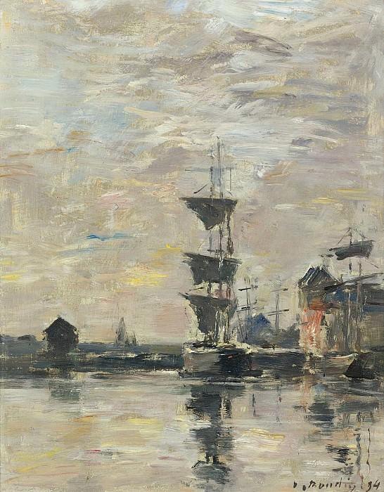 Eugene Boudin - Fecamp, 1894. Sotheby's