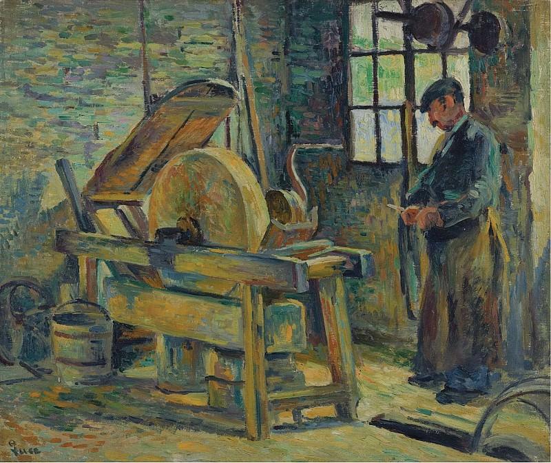 Maximilien Luce - The Grinder, 1907. Sotheby's