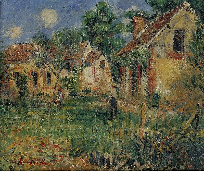Gustave Loiseau - Small Farm in the Outskirts of Caen, 1928. Sotheby's