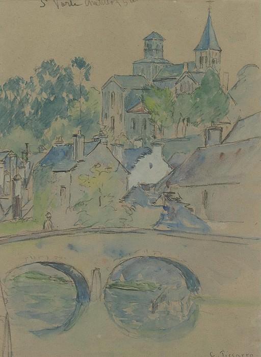 Camille Pissarro - St. Vorle, Chatillon-sur-Seine, 1903. Sotheby's