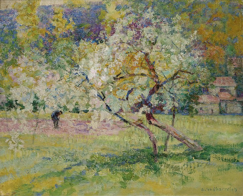 Victor Charreton - Blooming Trees. Sotheby's