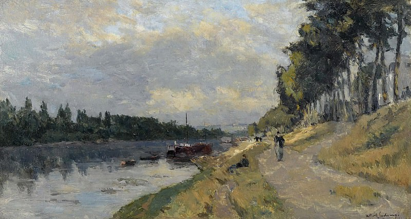 Albert Lebourg - The Banks of the Seine at Puteaux. Sotheby's