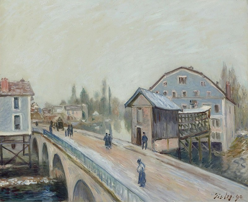 Alfred Sisley - The Bridge of Moret, 1890. Sotheby's