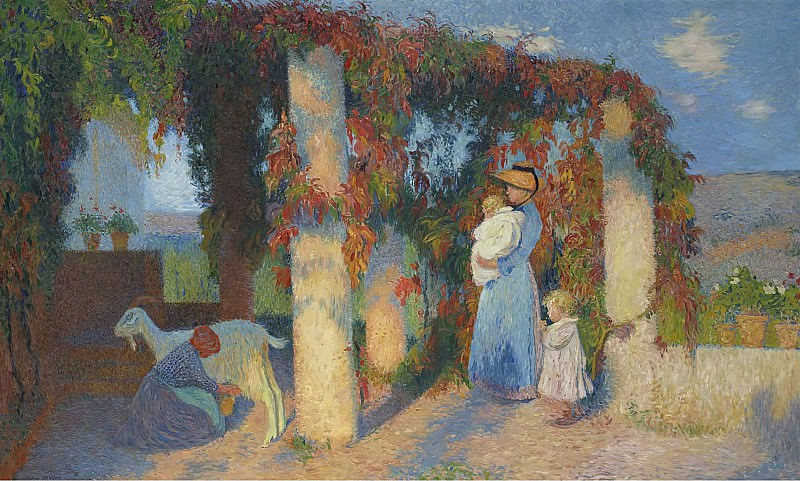 Henri Martin - The Arbour at Marquayrol. Sotheby's