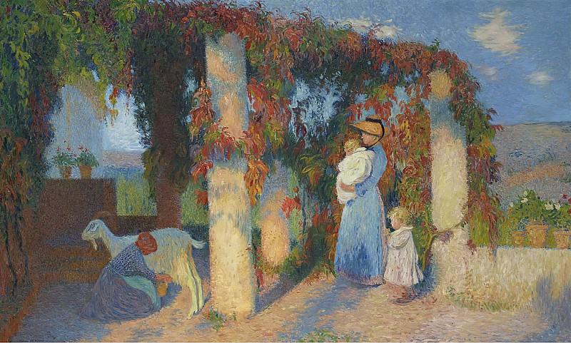 Henri Martin - The Arbour at Marquayrol. Картины с аукционов Sotheby's