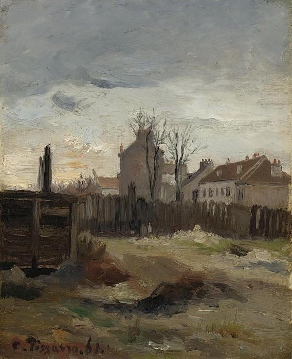 Camille Pissarro - La Butte-Montmartre, 1861. Картины с аукционов Sotheby's