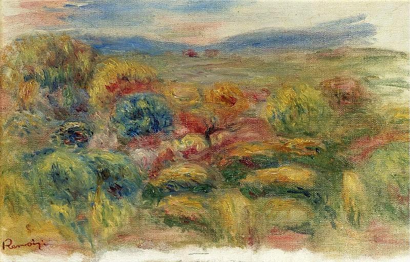 Pierre Auguste Renoir - Landscape, 1906-10. Картины с аукционов Sotheby's