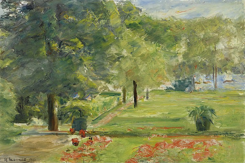 Max Liebermann - Flower Terrace, Wannsee Garden to the East, 1923. Sotheby's