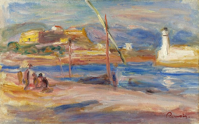 Pierre Auguste Renoir - Fort Carre at Phare of Antibes, 1916. Sotheby's