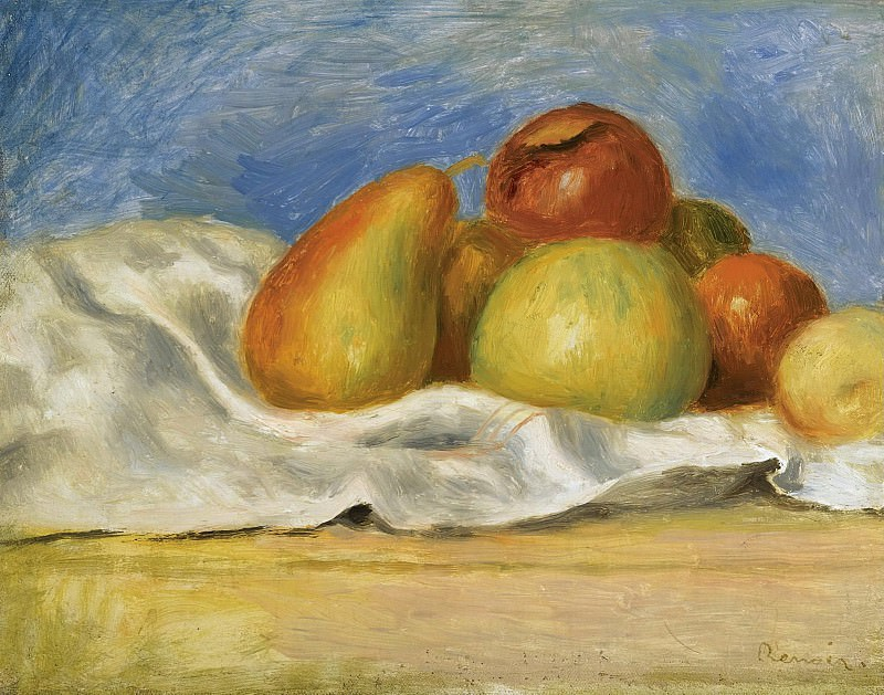 Pierre Auguste Renoir - Still Life with Apples and Pears, 1890. Sotheby's