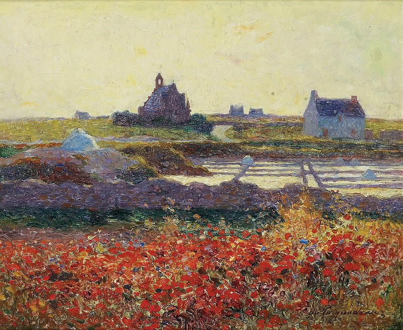 Ferdinand du Puigaudeau - Salt-Marsh near Croisic. Sotheby's