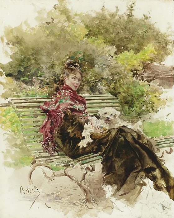 Giovanni Boldini - In the Park. Sotheby's