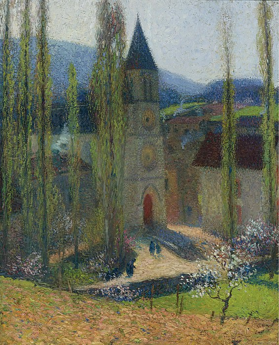 Henri Martin - The Church of Labastide-du-Vert, Late Afternoon. Sotheby's