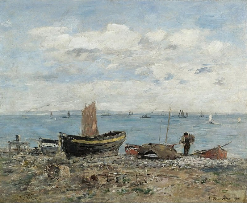 Eugene Boudin - Seashore at Saint-Adresse, 1894. Sotheby's