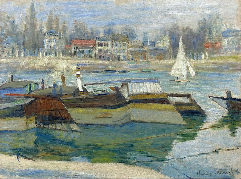 Claude Monet - The Boats in Asnieres, 1873. Sotheby's