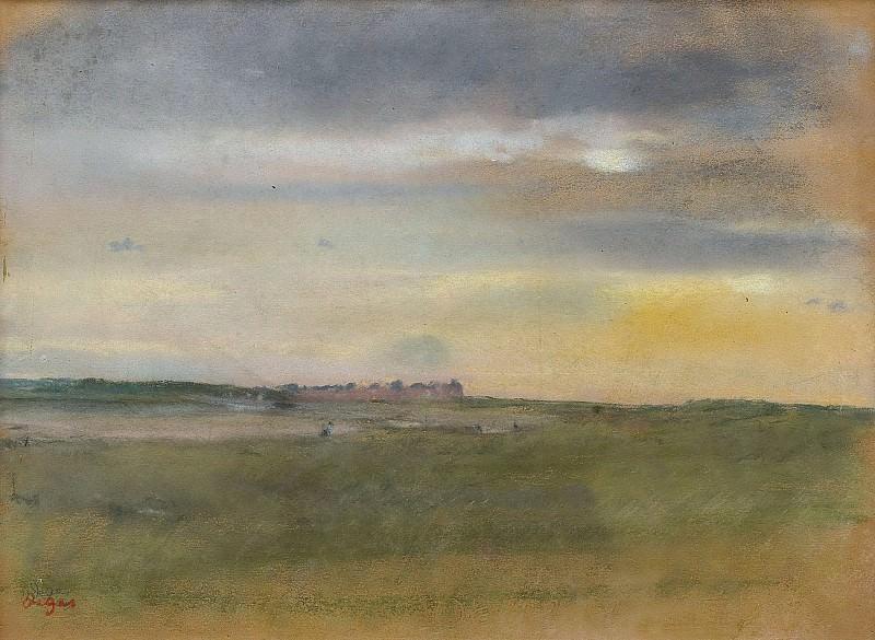 Edgar Degas - Landscape, the Sunset, 1869. Sotheby's