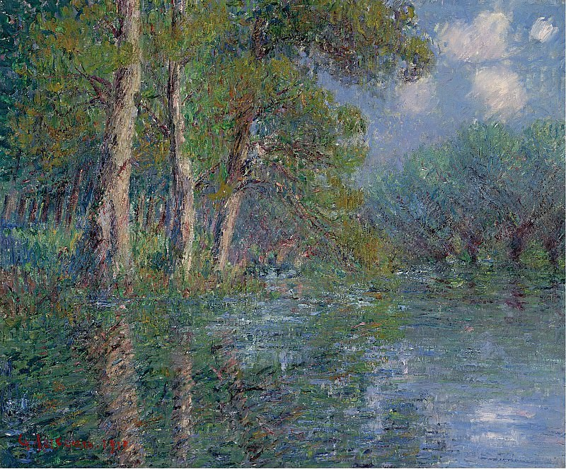 Gustave Loiseau - The Bend of the Eure, 1913. Sotheby's