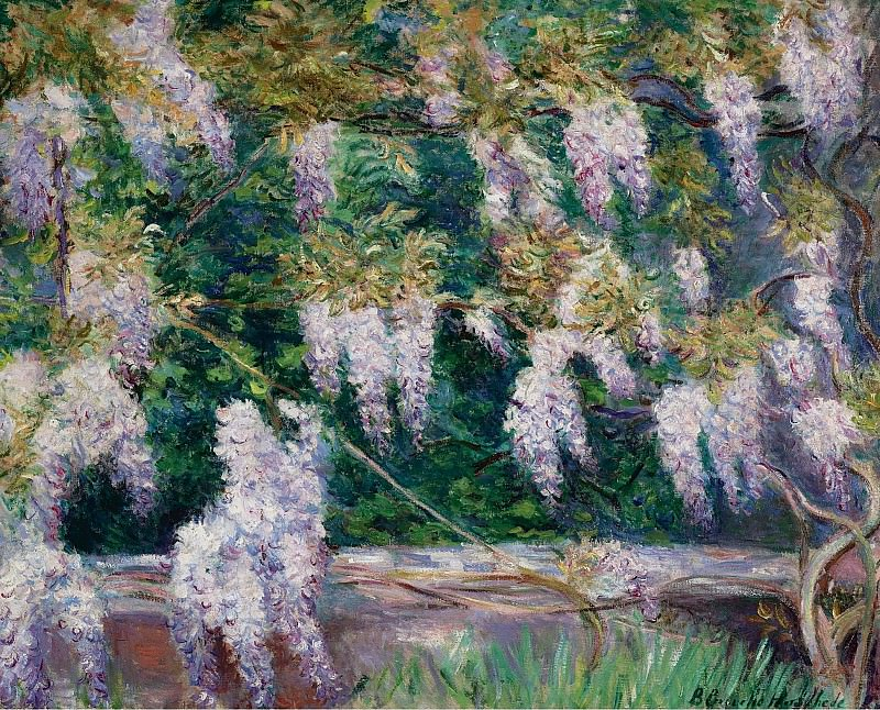 Blanche Hoschede-Monet - Wistarias at Giverny. Sotheby's