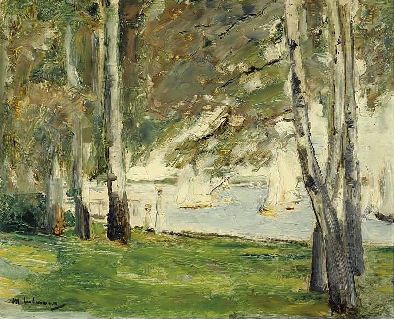 Max Liebermann - Birch Trees on the Banks of Wannsee, to the East, 1924. Картины с аукционов Sotheby's