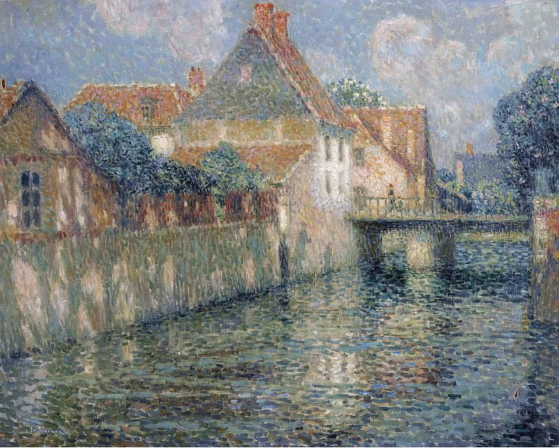 Henri Le Sidaner - The Channel in Spring, 1912. Sotheby's