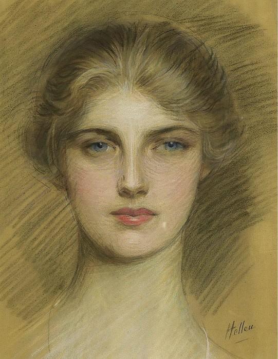Эллё, Поль Сезар - Portrait of a Young Woman, 1920. Картины с аукционов Sotheby's